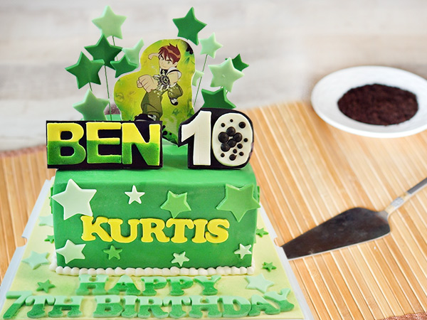 For Your Little Boy Who Is A Sci Fi Fan Ben 10 Theme Cake Birthday Of Kid Perfect To Add Charms The Occasion