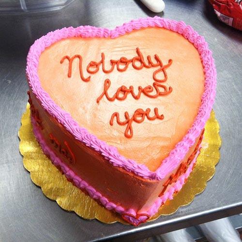weird heart-shaped cake