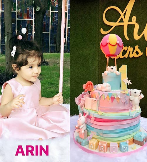 1stBirthday Cake of Arin - Daughter of Asin