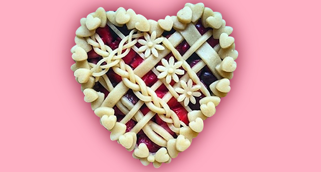 Heart shape pie