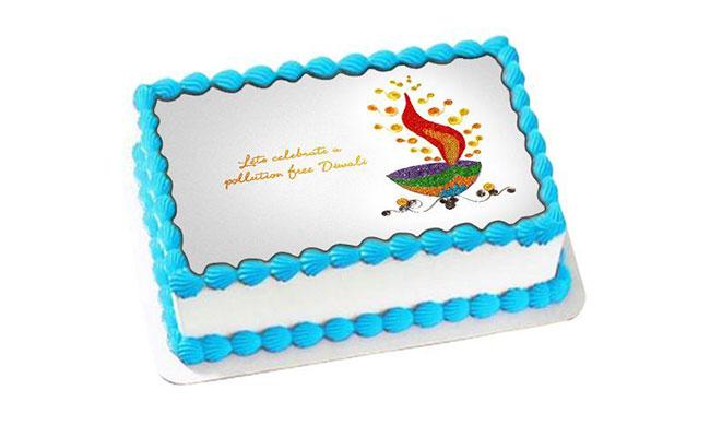 diwali photo cake