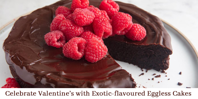Celebrate Valentine's Day with Exotic-flavoured Eggless Cakes