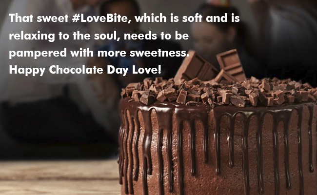 That sweet #LoveBite, which is soft and is relaxing to the soul, needs to be pampered with more sweetness. Happy Chocolate Day Love!