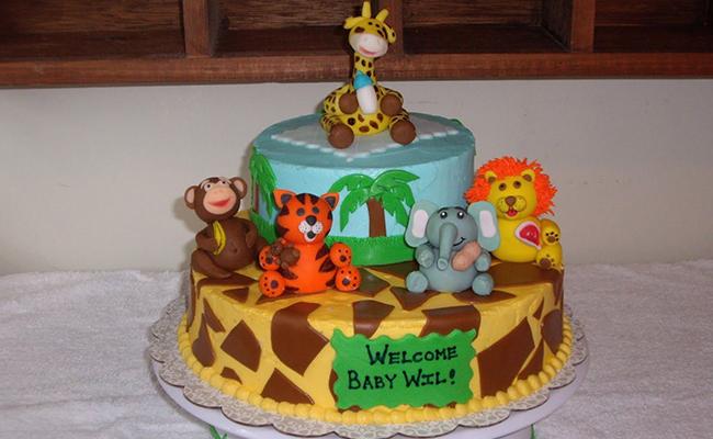 Jungle Magic Theme Cake for Babyshower