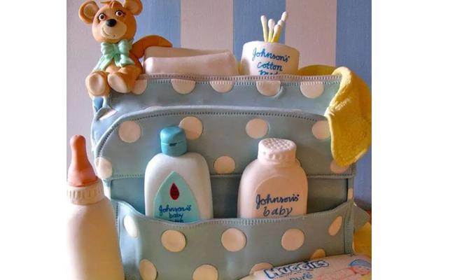 Diaper Bag Cake for Babyshower