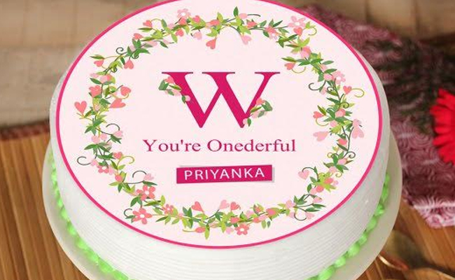 You are Onederful Poster Cake for Womens Day