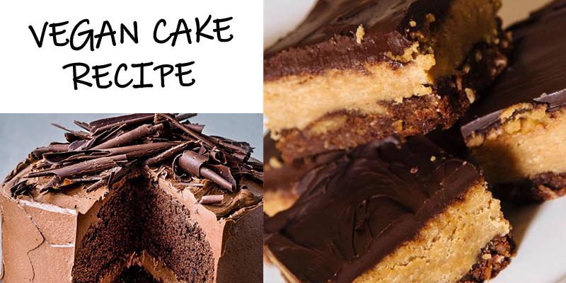Vegan Chocolate Cake Recipe with a Twist of Peanut Butter Ganache