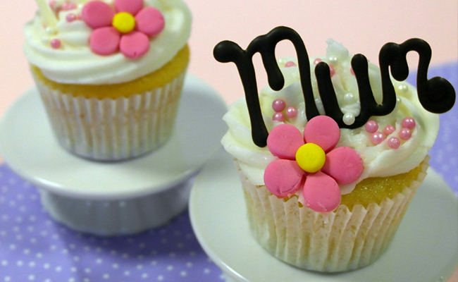 Personalised Strawberry Cupcakes for Mothers Day