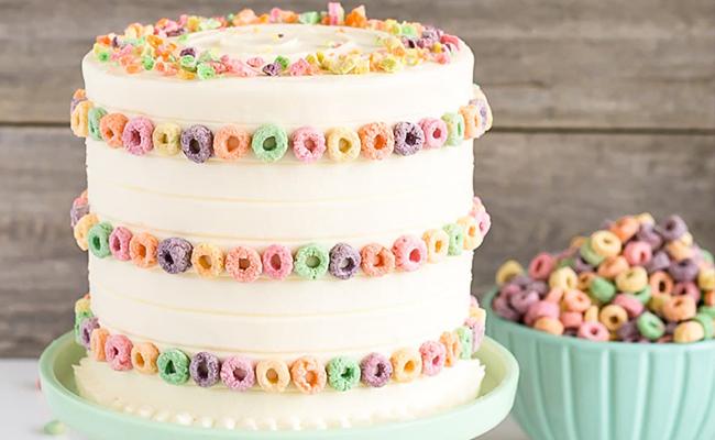 Froot Loop Cake
