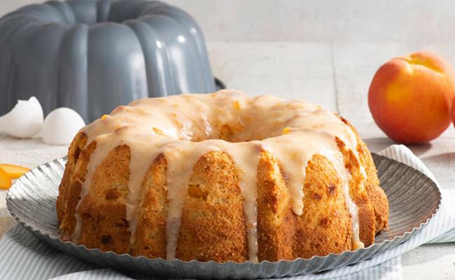 Peach and Cream Pond cake