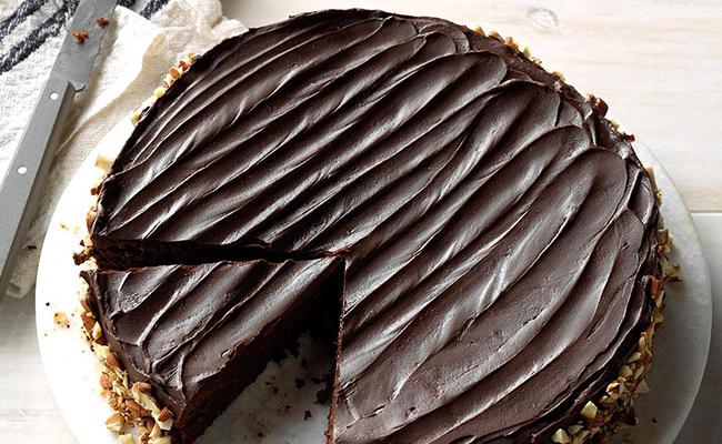 Chocolate Espresso Nut Cake