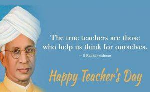 A quote for teacher by Dr Sarvepalli Radhakrishan