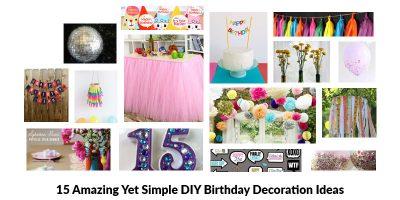 DIY Birthday Decoration Ideas