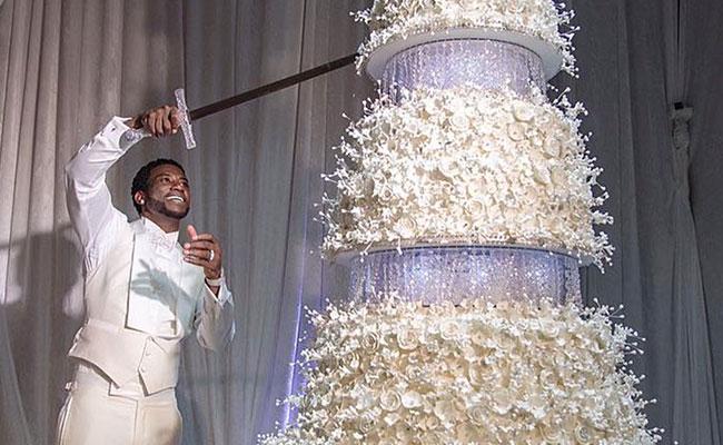 Gucci Mane And Keyshia Ka'oir Wedding Cake - One of the most expensive cake
