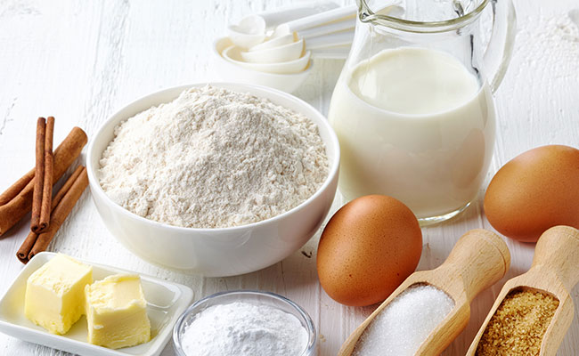 Ingredients for Fluffy Vanilla Cake