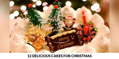 delicious cakes for christmas cover