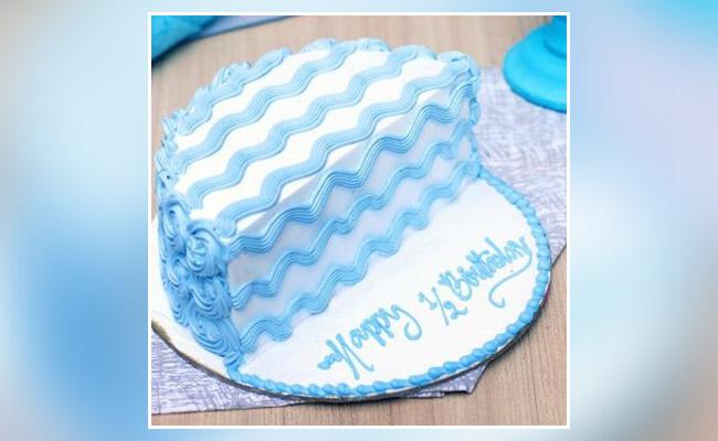 Half Birthday Cake for Celebration