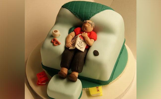 Sleepy Grandpa Cake