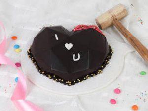 heart shaped pinata cake