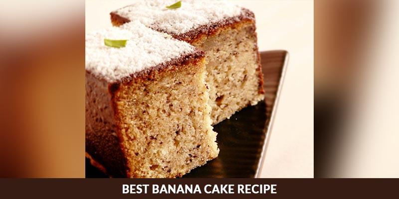 Delicious banana cake recipe