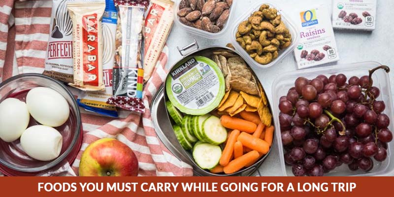 Foods to carry while going for a long trip