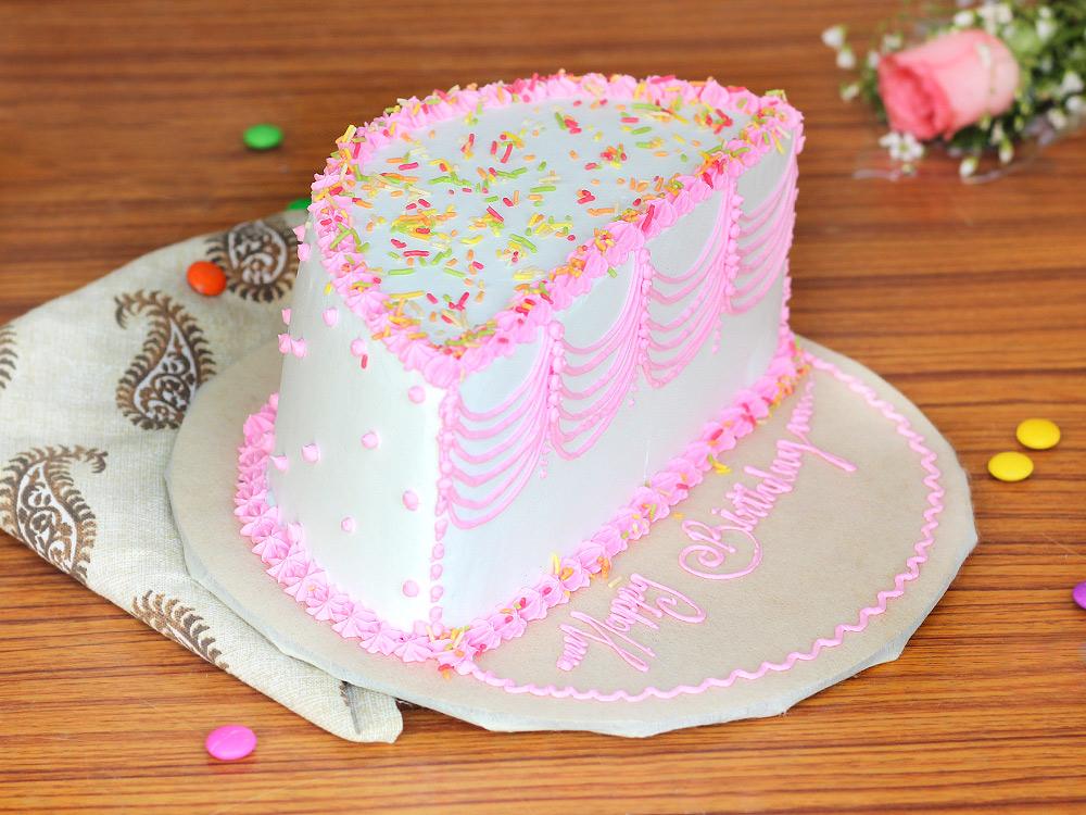 Half Birthday Theme Cream Half Birthday Cake Cake Bakingo