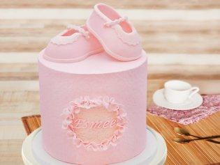 Baby Ballerina Fondant Cake
