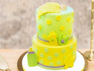 Two Tier Baby Fondant Cake