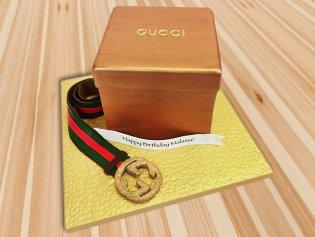 Gucci belt fondant cake