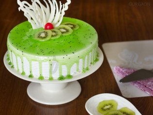 simple kiwi cake home delivery in gurgaon